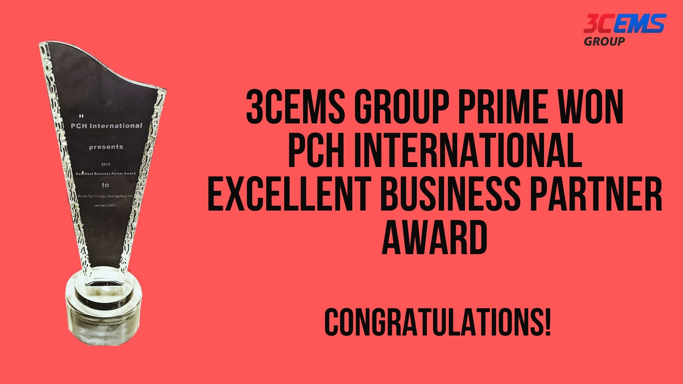 3CEMS Group honored with PCH's Excellent Business Partner Award